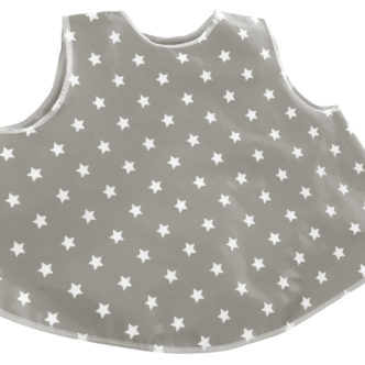 tunic bib - soft grey stars