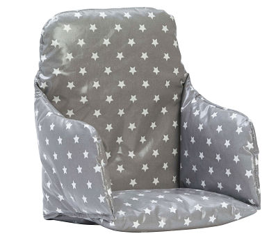 grey high chair cushion