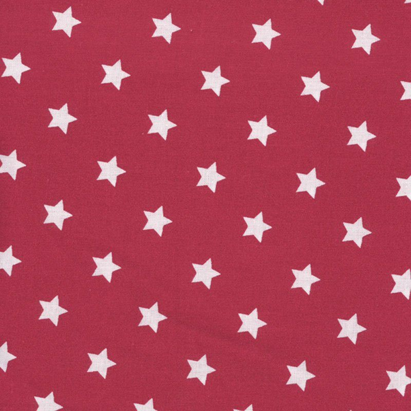 oilcloth red stars