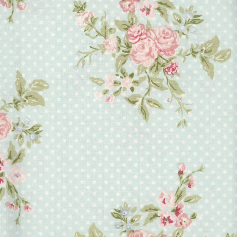 oilcloth by the metre - floral swatch
