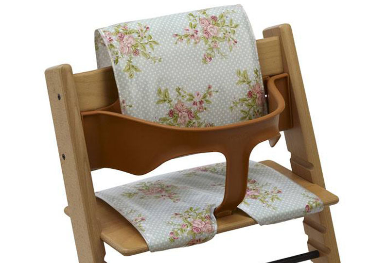 For Wooden High Chairs Pastel Roses, High Chair Cushion For Wooden Chairs
