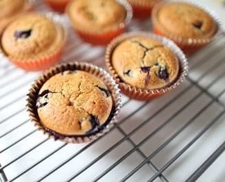 cooking with toddlers blueberry muffin