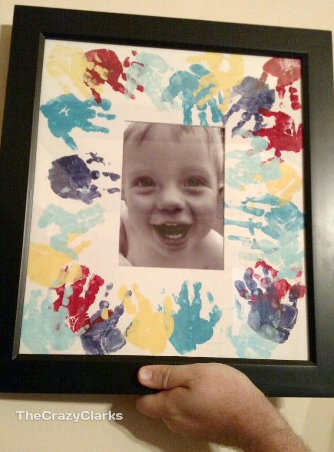 Mother's Day photo frame craft
