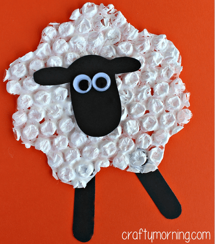 easter craft lamb