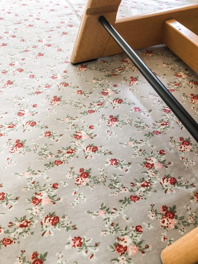 floral splash mat